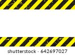 line yellow and black color... | Shutterstock .eps vector #642697027