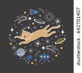 space cat | Shutterstock .eps vector #642701407