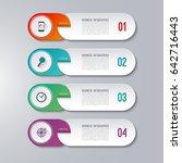 modern infographic template... | Shutterstock .eps vector #642716443