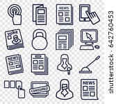 press icons set. set of 16... | Shutterstock .eps vector #642760453