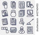 press icons set. set of 16... | Shutterstock .eps vector #642760453
