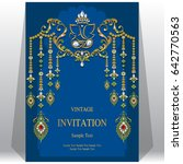 invitation card template with...   Shutterstock .eps vector #642770563