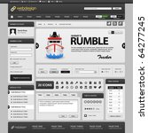 web website element design...