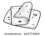 cheese slices illustration ... | Shutterstock .eps vector #642772843