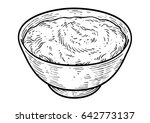 yogurt illustration  drawing ... | Shutterstock .eps vector #642773137