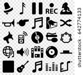 sound icons set. set of 25... | Shutterstock .eps vector #642774133