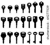 key black silhouette vector   Shutterstock .eps vector #64277539