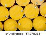 tops of barrels stacked in row | Shutterstock . vector #64278385