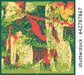 grunge oil painting. oil... | Shutterstock .eps vector #642787867