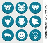 set of 9 cute filled icons such ... | Shutterstock .eps vector #642795697