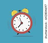 alarm clock. wake up time.... | Shutterstock .eps vector #642804697