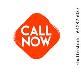 call now label logo vector... | Shutterstock .eps vector #642825037
