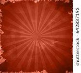 red retro grange background | Shutterstock .eps vector #642837193