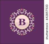 b letter emblem sign for...