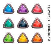 cartoon vector triangle rocky...
