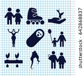 set of 9 young filled icons... | Shutterstock .eps vector #642868837