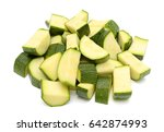 zucchini vegetables isolated on ... | Shutterstock . vector #642874993