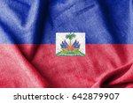 haiti cotton flag | Shutterstock . vector #642879907