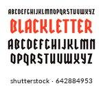 narrow sanserif font in black...   Shutterstock .eps vector #642884953