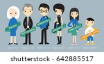 generations comparison info... | Shutterstock .eps vector #642885517