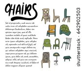 chairs doodle style... | Shutterstock .eps vector #642902503