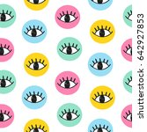 hand drawn eye doodles in... | Shutterstock . vector #642927853