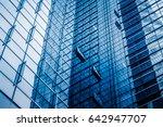 closeup of glass wall of modern ... | Shutterstock . vector #642947707