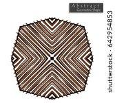 abstract geometric shape... | Shutterstock .eps vector #642954853