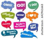 weddings phrases in speech...   Shutterstock . vector #642961663