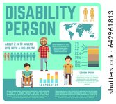 disabled people medical... | Shutterstock . vector #642961813