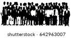 collection of black and white... | Shutterstock . vector #642963007