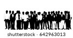 collection of black and white... | Shutterstock . vector #642963013