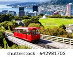 wellington cable car  new... | Shutterstock . vector #642981703