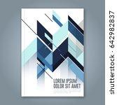abstract minimal geometric... | Shutterstock .eps vector #642982837