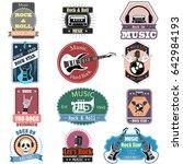 vector illustration of music... | Shutterstock .eps vector #642984193