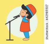 muslim calling for a prayer ...   Shutterstock .eps vector #642985507