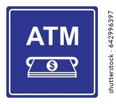 automatic teller machine  atm ...   Shutterstock .eps vector #642996397