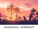 copy space of silhouette... | Shutterstock . vector #643003627