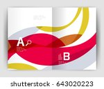 wave design business brochure... | Shutterstock .eps vector #643020223