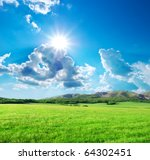 Green Meadow In Mountain....