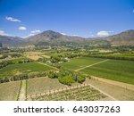 franschoek winelands and... | Shutterstock . vector #643037263