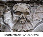 skull in architecture. skull... | Shutterstock . vector #643070593