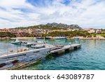 the island of sardinia  italy....   Shutterstock . vector #643089787
