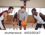 basketball players ready for... | Shutterstock . vector #643100167