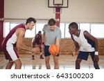 basketball players ready for... | Shutterstock . vector #643100203