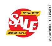 sale discount 50    concept... | Shutterstock .eps vector #643102567