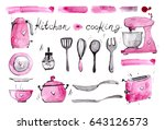 watercolor illustration with... | Shutterstock . vector #643126573