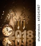 new years eve celebration... | Shutterstock . vector #643141987