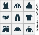 garment icons set. collection... | Shutterstock .eps vector #643145683