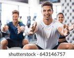 group of happy people... | Shutterstock . vector #643146757